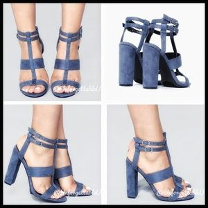 "NWT Fashion Nova Randy ""Love Me Better Heel"" Blue"